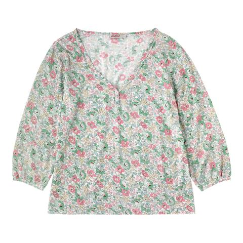 MODAL TOP WELHAM FLOWERS MINT MULTI XS