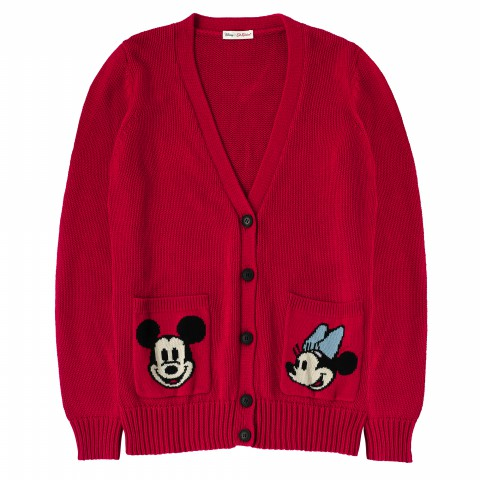 DISNEY CHUNKY CARDIGAN RED XS