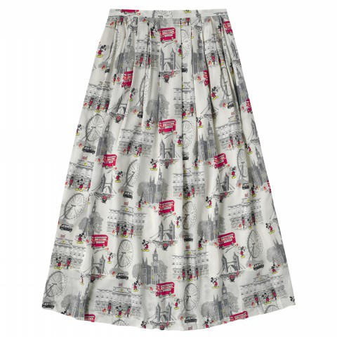 DISNEY VISCOSE SKIRT MICKEY IN LONDON STONE 10