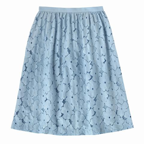 LACE SKIRT COOL BLUE 8