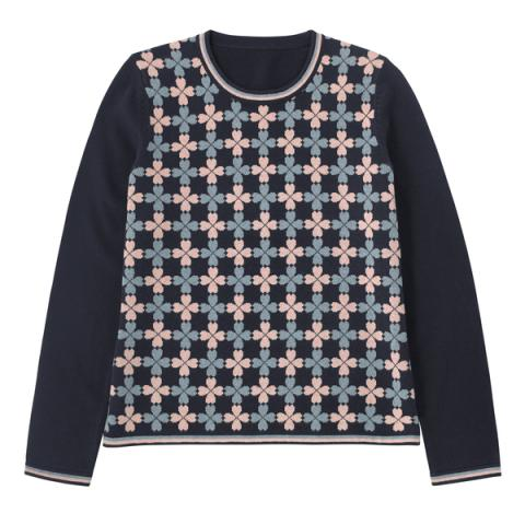 COTTON CLOVER JACQUARD JUMPER LITTLE LUCKY NOTES S