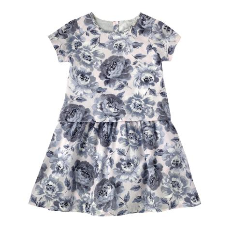 GIRLS LAYER DRESS PEONY BLOSSOM SUGAR PINK 4-5Y