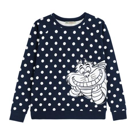 DISNEY PLACEMENT JUMPER #2 DISAPPEARING CHESHIRE CAT PL02 TRUE NAVY