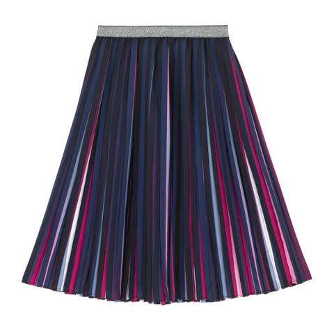 BIRTHDAY STRIPE PLEATED SKIRT