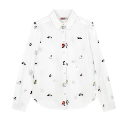 S/LONDON MAP EMBROIDERY SHIRT