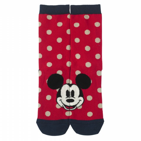 DISNEY DAY SOCKS MINNIE & MICKEY SPOT RED ONE SIZE