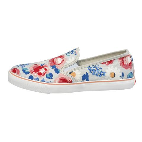 SMART SLIP ON DAISIES & ROSES COOL BLUE 36