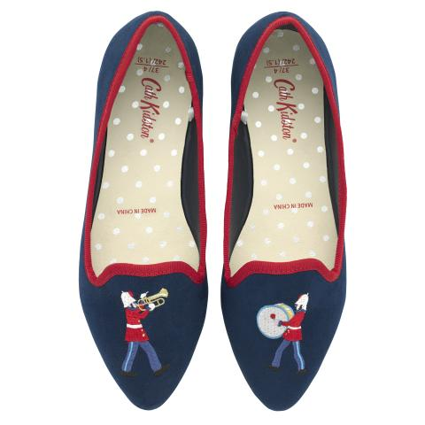 EMBROIDERED PUMP MARCHING BAND MID BLUE 38