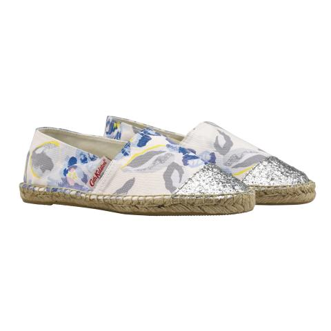 GLITTERY ESPADRILLE SPRING BLOOM LIGHT CAMEO PINK