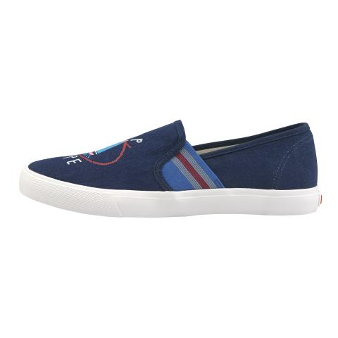 SHIP SHAPE SLIP ON TRAINER WHITBY WATERS NAVY EU39