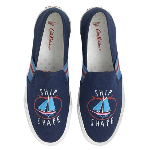 SHIP SHAPE SLIP ON TRAINER WHITBY WATERS NAVY