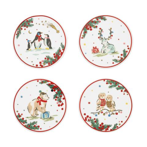 Coaster Set x 4 Festive Party Animals