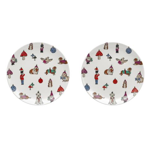 TWO PLATES NOVELTY BAUBLES