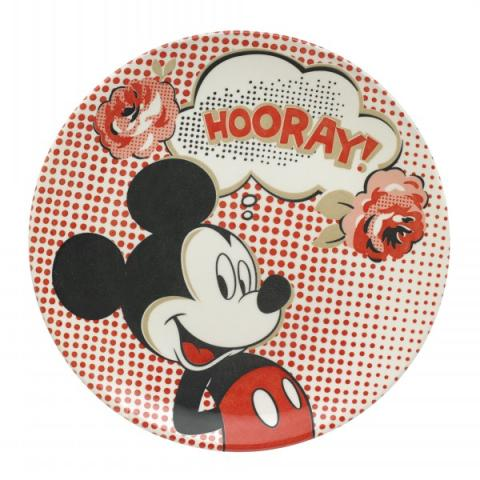 DISNEY  PLATE HOORAY ROSE