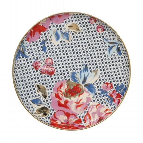 TEA PLATE GEO BRAMPTON ROSE