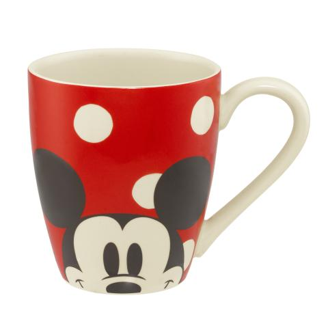 DISNEY MUG MICKEY & MINNIE SPOT RED