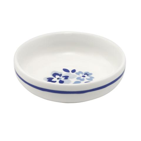 SHALLOW SAUCE DISH SPRAY DITSY MID BLUE