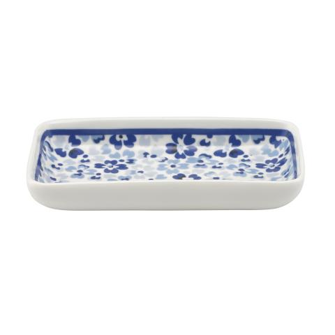 SMALL RECTANGULAR DISH SPRAY DITSY MID BLUE