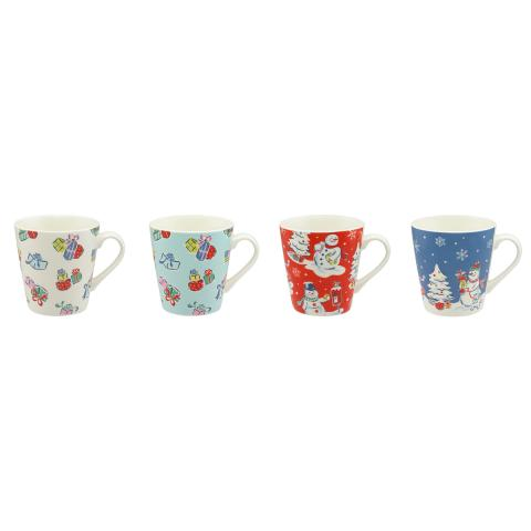 SET OF 4 MINI STANLEY MUGS SNOWMEN