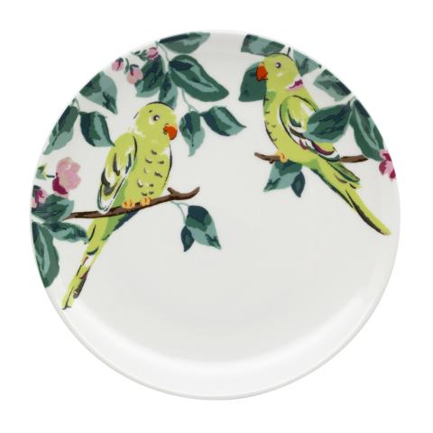 PARAKEET TEA PLATE  PARK WILD LIFEPLACEMENT 3 OFF WHITE