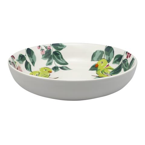 PARAKEET PASTA BOWL PARK WILD LIFEPLACEMENT 16 LIGHT GREY