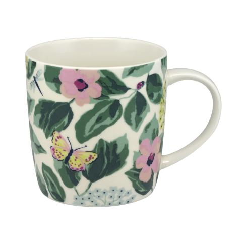 AUDREY MUG MORNINGTON LEAVES OFF WHITE GREEN