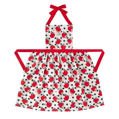 PINAFORE APRON APPLES AND SPOT