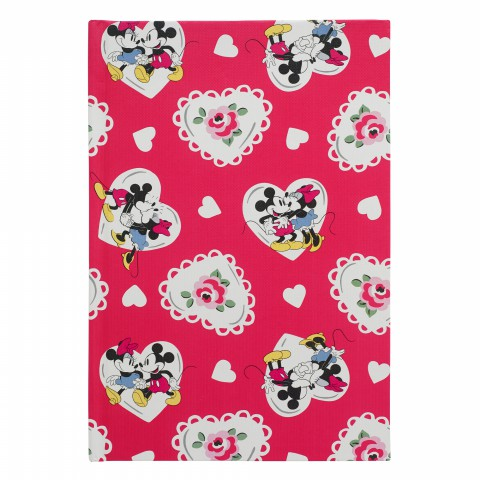 DISNEY A5 HARD COVER NOTEBOOK MICKEY & MINNIE CORAL