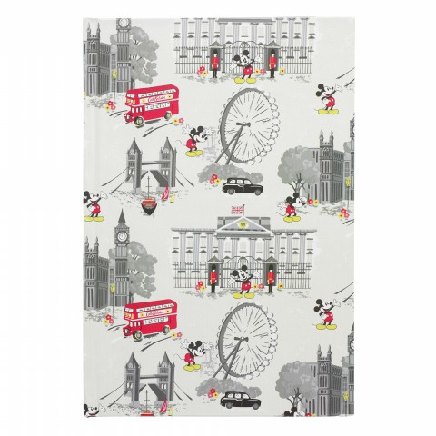 DISNEY A5 HARD COVER NOTEBOOK MICKEY & MINNIE STONE
