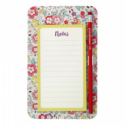MAGNETIC TO- DO LIST PRETTY PANSIES OFF WHITE