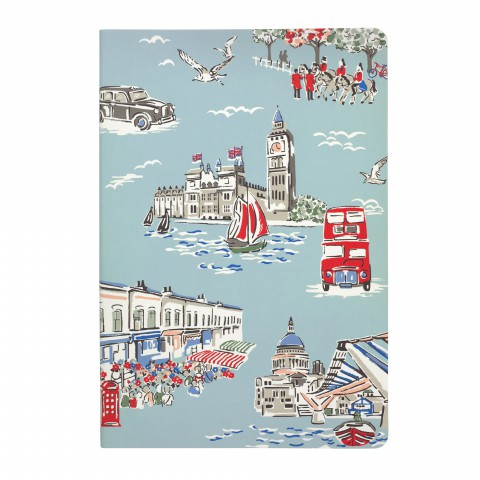A5 SOFT COVER NOTEBOOK LONDON TOWN LIGHT AQUA