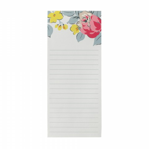 LONG NOTEPAD SKETCHED ROSE CREAM