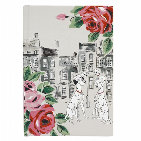 DISNEY HARD COVER NOTEBOOK TOWNHOUSE DOGS SOFT STONE