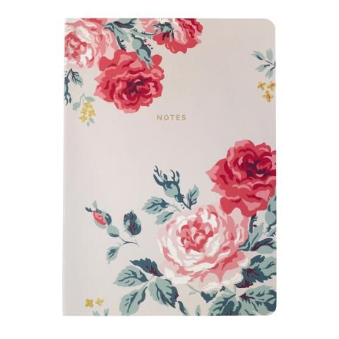 SOFT COVER NOTEBOOK ANTIQUE ROSE DUSTY PINK