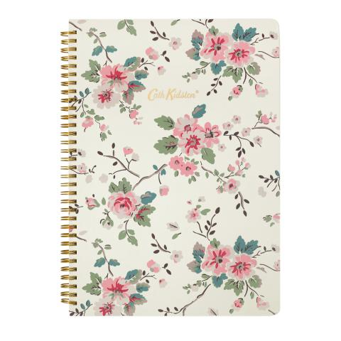 A4 SPIRAL BOUND NOTEBOOK TRAILING ROSE NATURAL