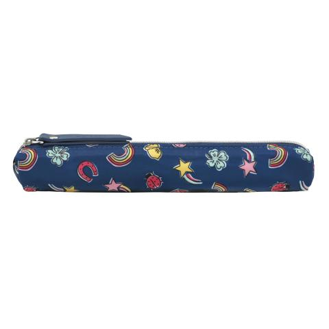 SKINNY PENCIL CASE GOOD LUCK CHARMS NAVY MULTI