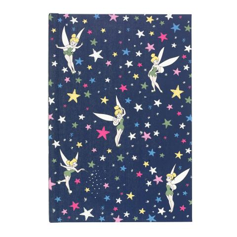 DISNEY HARD COVER NOTEBOOK TINKER BELL STARRY NIGHT NAVY