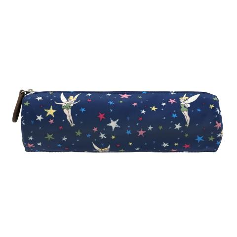 DISNEY TUBE PENCIL CASE TINKER BELL STARRY NIGHT NAVY