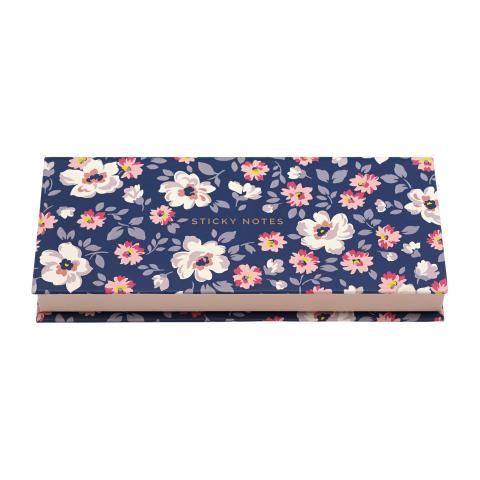 STICKY NOTES ISLAND FLOWERS NAVY