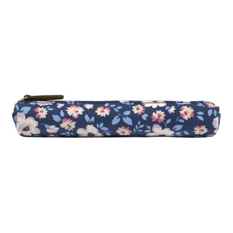 SKINNY PENCIL CASE ISLAND FLOWERS NAVY