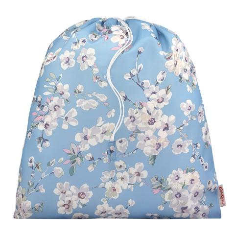 SHOE BAG LARGE  WELLESLEY BLOSSOM SOFT BLUE