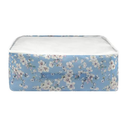 UNDERBED STORAGE WELLESLEY BLOSSOM SOFT BLUE