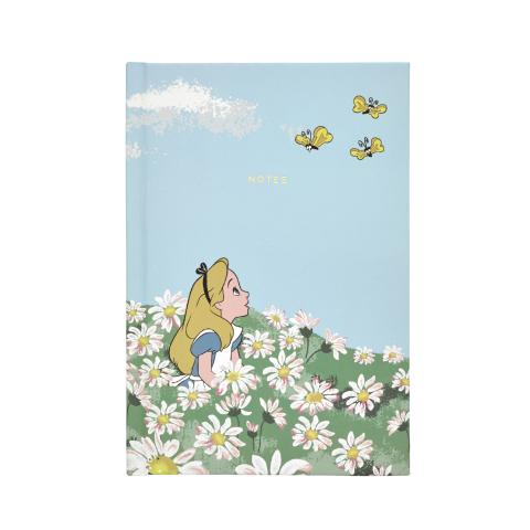 ALICE`S MEADOW SEA BLUE DISNEY A5 HARD BACK NOTEBOOK