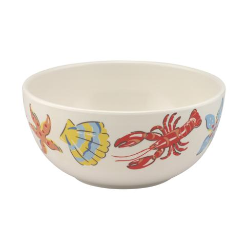MELAMINE BOWL LOBSTER & FRIENDS OFF WHITE