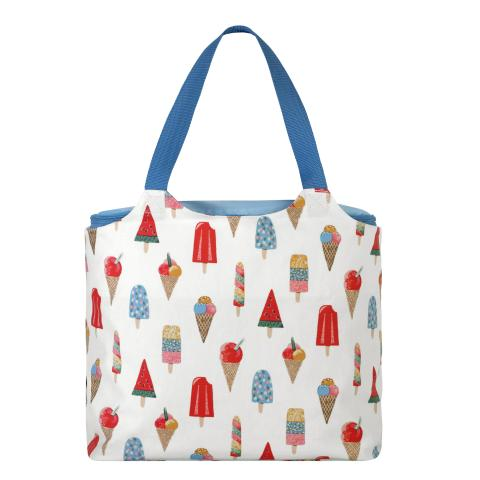 LARGE COOL BAG TOTE ICE CREAM STONE