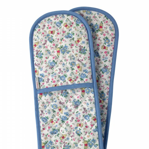 DOUBLE OVEN GLOVE BRAMLEY SPRIG FRIENDS BLUE