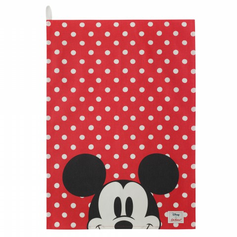 DISNEY TEA TOWEL MINNIE & MICKEY SPOT RED