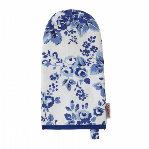 OVEN GAUNTLET SMALL LARGE SPRAY FLOWERS MID BLUE