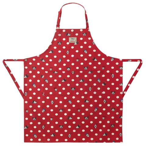 Disney Apron Mickey & Friends Button Spot Bright Red