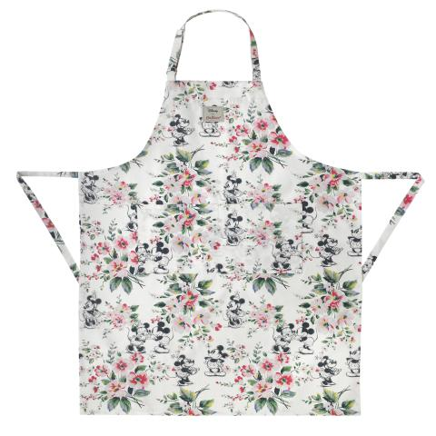 Disney Apron Mickey & Minnie Bouquet Ivory